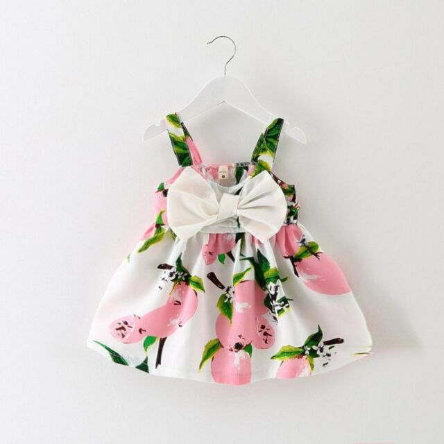 Toddler Kids Baby Girls Summer Dress Princess Party Wedding Tutu Dresses 0-3Y