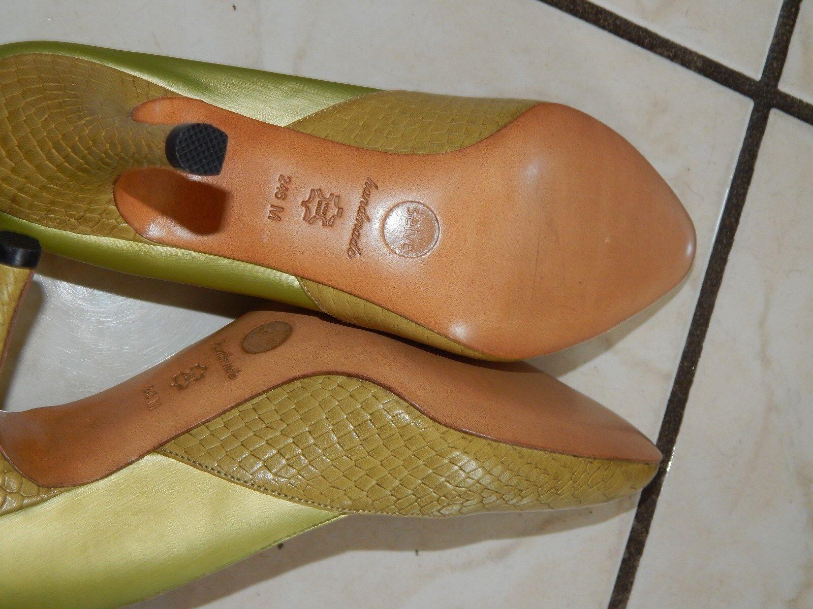 SELVE Loafers Mokassins Ballerinas Halbschuhe Ballerinas Mokassins Handmade Gr. 38,5   Echt Leder (7) 7875c3