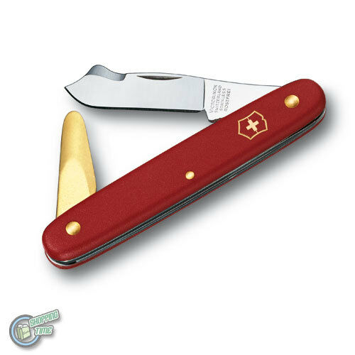 VICTORINOX Swiss Army Knife Garden Budding pointed tip with bark lifter Red