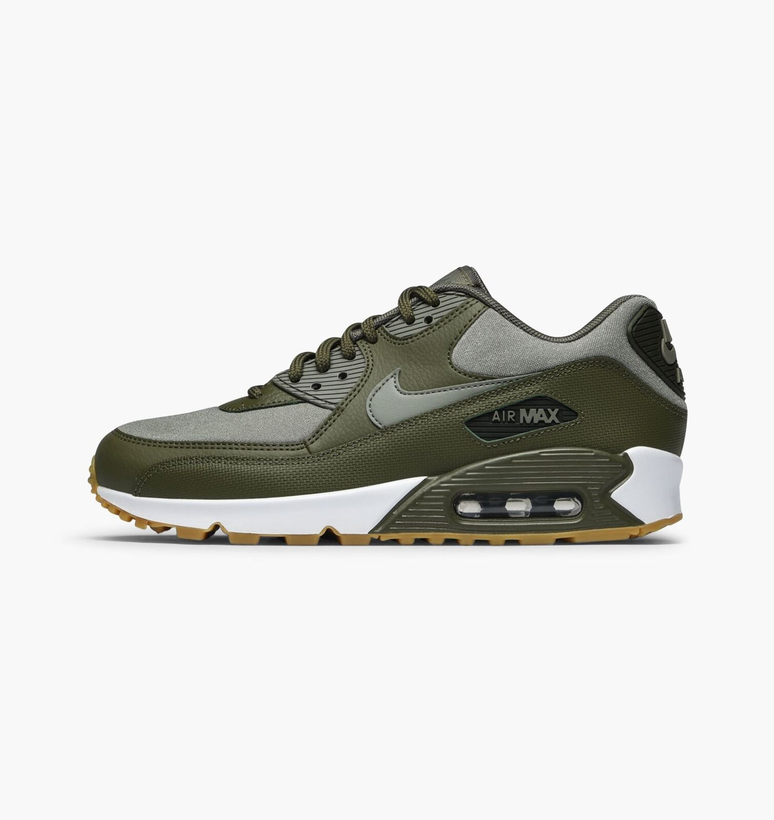 Nike femmes Air Max 90 Medium Olive Trainers Trainers Trainers 325213 205 Taille 4 UK d52588