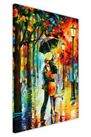 Dance Under The Rain By Leonid Afremov Framed Canvas Art Pictures Wall Prints