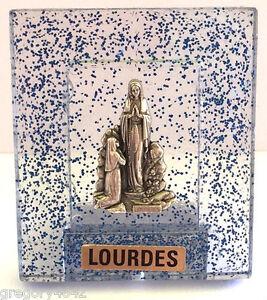 MAGNIFIQUE CHEVALET NOTRE DAME DE LOURDES BLEU 4X5 BENIT A LOURDES m9g8ywSl-09091855-736549091