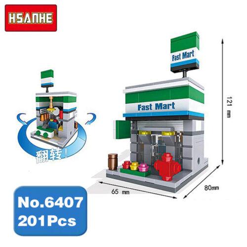 Baukästene HSANHE Mini Street FamilyMart Spielzeug Convenience Store Diamon