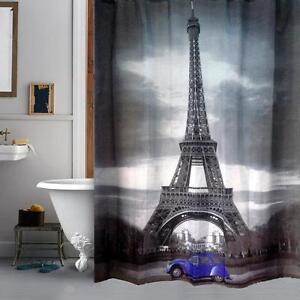Image Is Loading Paris Eiffel Tower Blue VW Beetle Volkswagen Bathroom
