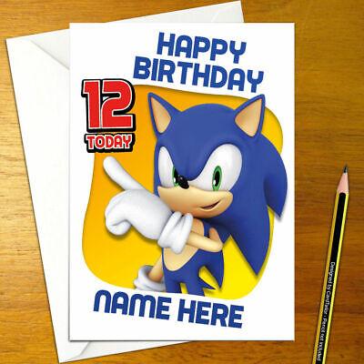 Sonic The Hedgehog Personalised Birthday Card A5 Sega Genesis Megadrive Tails Ebay