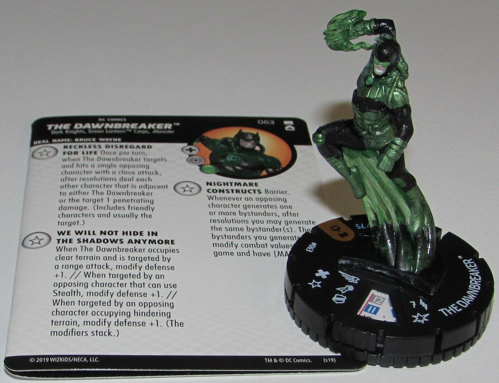 The Dawnbreaker 063 Dc Universe Rebirth Heroclix Chase Rare Metallo