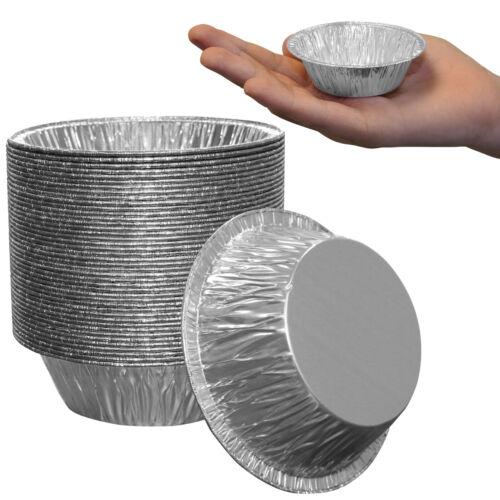 "Professional Aluminium Foil Metal Mini Tart Flan Mince Pie Cases Tins 3/"" Round"