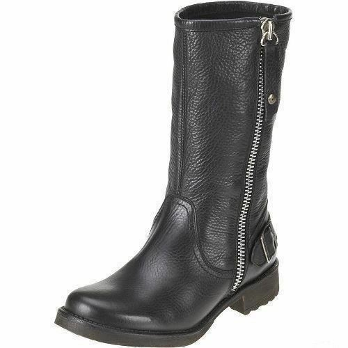 Ladies Black Leather Harley Davidson ' Baisley ' Boots - Great Price!