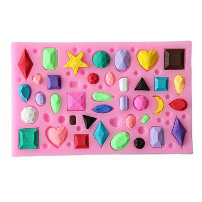 Many Gemstones/Jewelry/Diamonds  Silicone Mold For Making Cake Chocolate Ice Pud