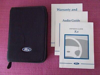 Ford Ka   Owners Manual Owners Guide Handbook