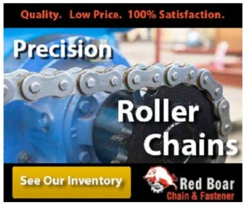 HEAVY DUTY DOUBLE STRAND ROLLER CHAIN RIVETED 10FT REEL New, 2 #80H