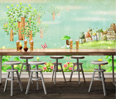 3D Forest Trees 463 Wallpaper Murals Wall Print Wallpaper Mural AJ WALL AU Lemon