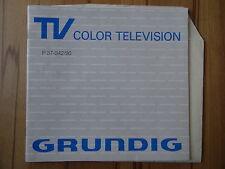 Bedienungsanleitung TV Color Television Grundig T37-342/90