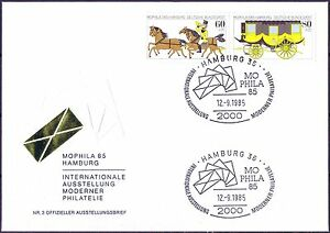 Rfa 1985: Mophila! Officiel Lettre 3 Avec Nr 1255+1256 Et Hamburger Tampons!-afficher Le Titre D'origine Soulager La Chaleur Et La Soif.