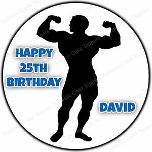 Personalised Gym Fitness Muscle Man Bodybuilding Edible ...