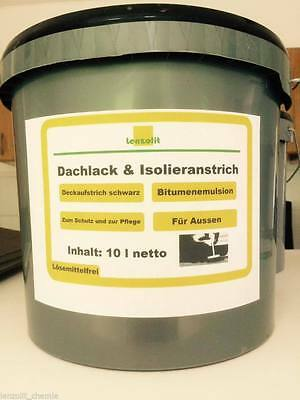 Heimwerker Methodisch Lenzolit Dachlack Dachanstrich Bitumen Bitumenemulsion Lösemittelfrei Baustoffe & Holz