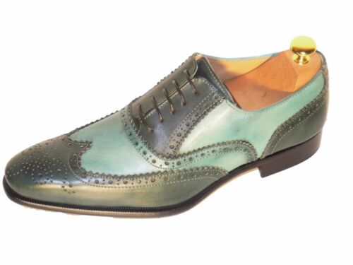 Main color Cousu Luxe Et Chaussure Italienne Homme Bi Vert Clair xdCBroe