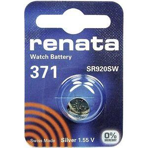 Renata 371 Coin Battery SR920SW 1.55V Oxyde d'argent pour Torches Caméra Keys w5Evnero-08022500-276501913