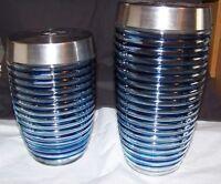 Blue Harbor Collection Blue Stripe Storage Stash Jars 33oz & 60oz (set)