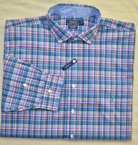 7a43c0160 New 4XLT 4XL TALL POLO RALPH LAUREN Mens button down dress shirt ...
