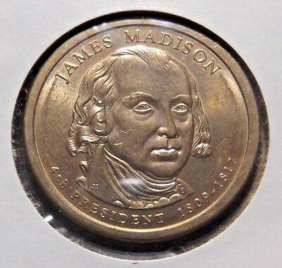 James Madison 2007d Gold Dollar Type 2 Clad Coin 4th President Denver 366 Ebay