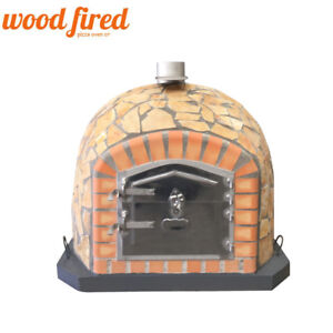 Image Is Loading Brick Outdoor Wood Fired Pizza Oven 90cm Deluxe
