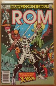 ROM-17-NEAR-MINT-9-2-1st-HYBRID-X-MEN-WOLVERINE-MILLER-COVER-MARVEL-1981