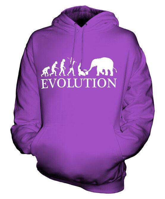 ELEPHANT CARER EVOLUTION OF MAN UNISEX HOODIE  Herren Damenschuhe LADIES GIFT GIFT S