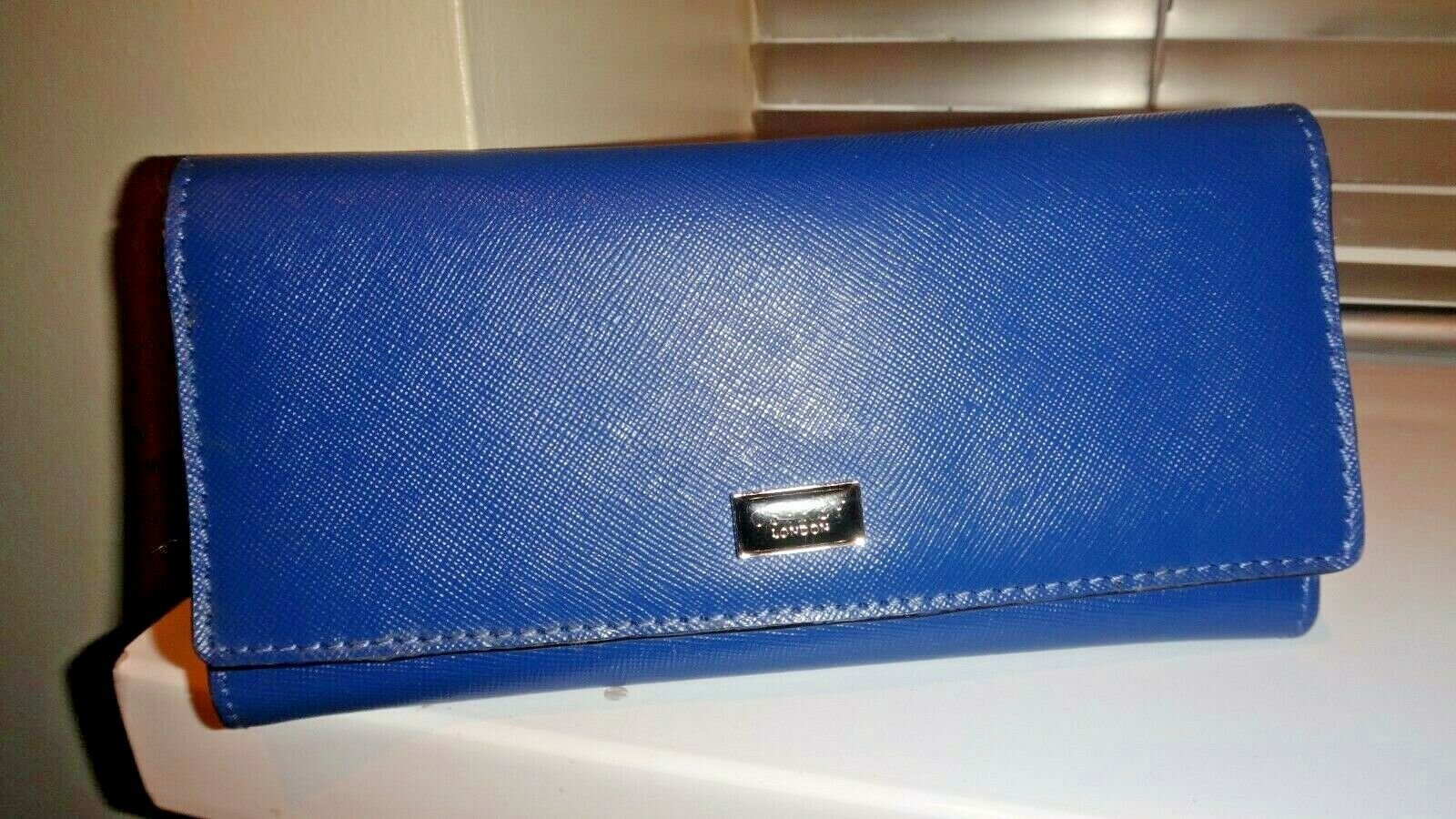 Osprey By GRAEME ELLISDON London Tri-Fold Wallet, Purse in Steel Blue 7.5