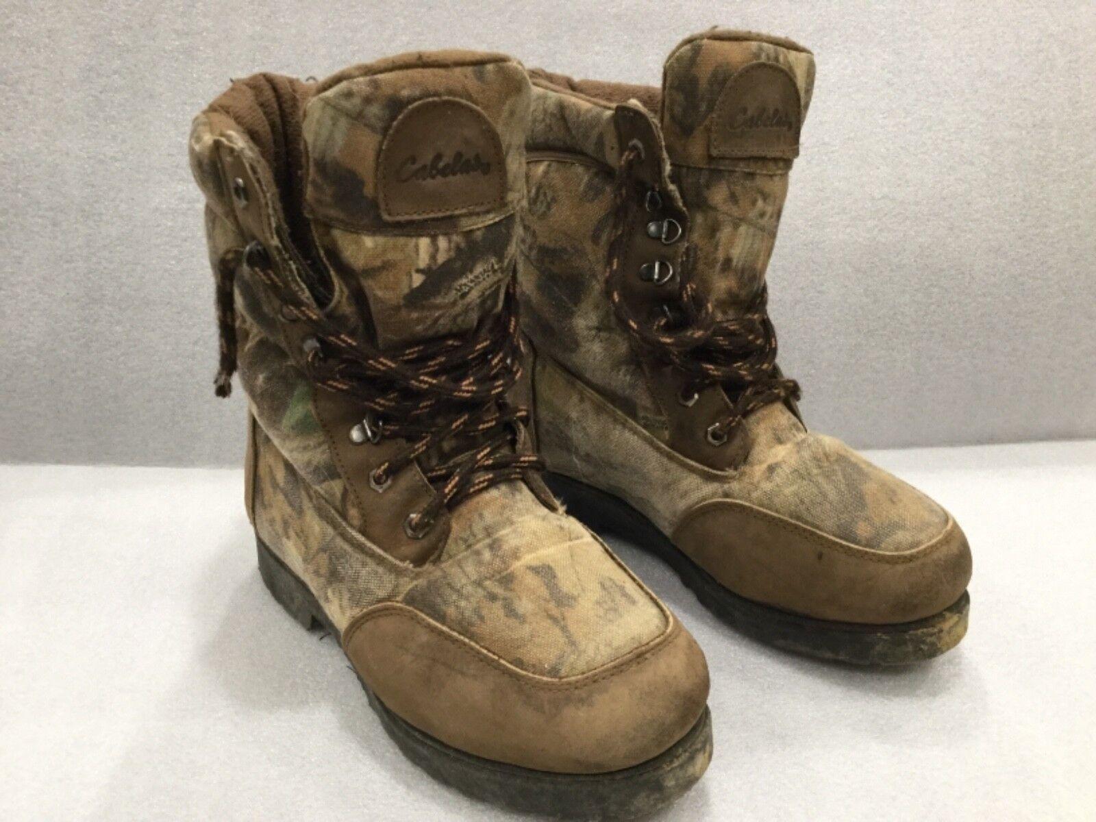 CABELA'S GoreTex Camo Hiking Hunting Boots Women's Size 8.5