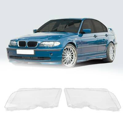 Car Headlight Cover Lens fit for BMW 3 Series E46 98-01 4D Pre-facelift Plastic