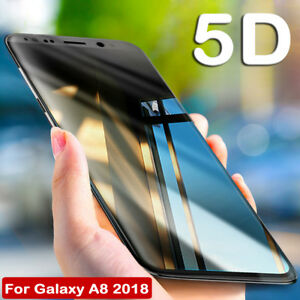 5D-Glass-Full-Cover-Protective-For-Samsung-Galaxy-A5-A7-A8-Plus-Tempered-Screen