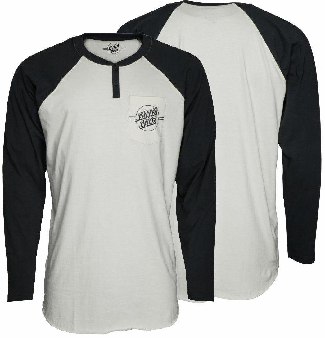 Santa Cruz S boards Langarm T-Shirt Outline Punkte Henley T-Shirt Groß