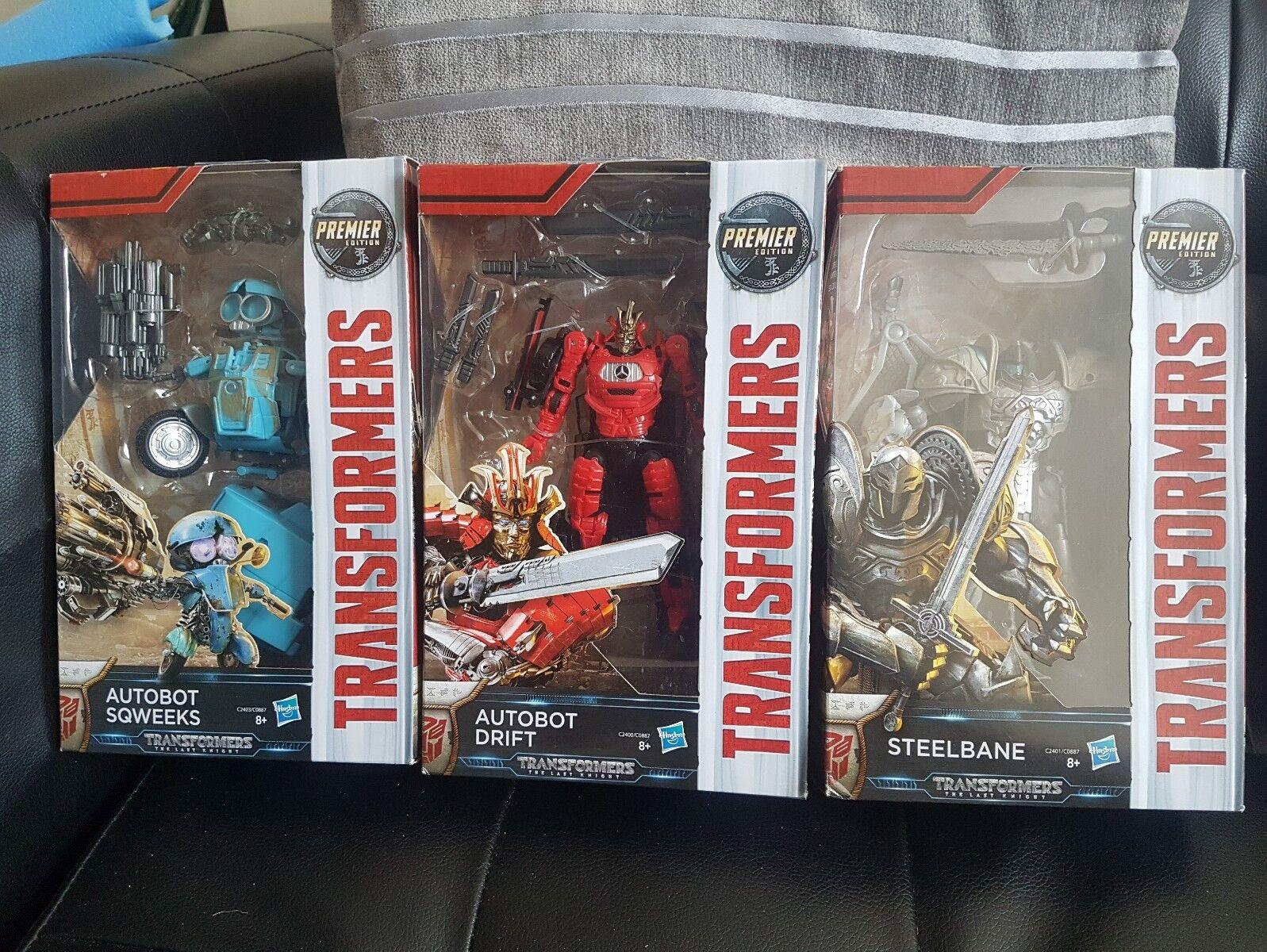 Transformers Autobot Drift sqweeks steelbane Premier BUNDLE LOTTO ODL-Set di 3