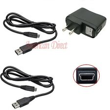 2X USB Cable+1Wall Charger Controller  Station Charging For sony Playstation PS3