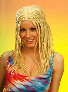 PB-Blond-clair-Rasta-perruque-Surf-Hippie-Femme-Fancy-Dress-neuf-new