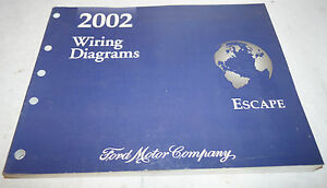2002 Ford Escape Factory Wiring Diagrams Service Manual Oem Dealership Book 02 Ebay