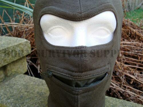 Armée Italienne Open Face Laine Balaclava Vert-Airsoft Tactical Surplus shooting