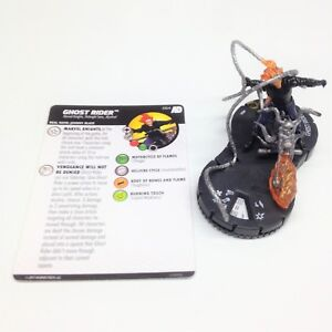 Heroclix-Avengers-Defenders-War-set-Ghost-Rider-064-Super-Rare-figure-w-card