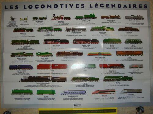141 R 232 U Poster AFFICHE Locomotives de légende Bugatti Atlas 83x59 2D2
