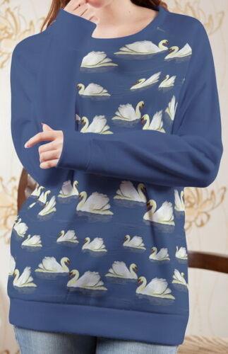 Schwan Damen Langen Sportbekleidung Pullover Oben Pulli b113 b03013