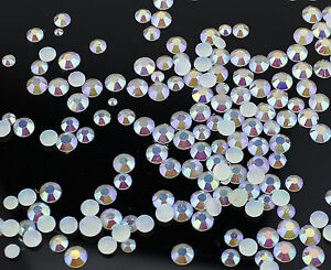 2-3-4-5-mm-or-Mixed-Size-AB-Iridescent-Jelly-Rhinestones-White-Card-Making-Nail