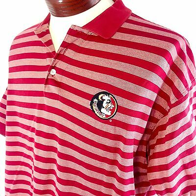 Florida State Seminoles Shirt Polo Large Mens Garnet Embroidered Boca Classics