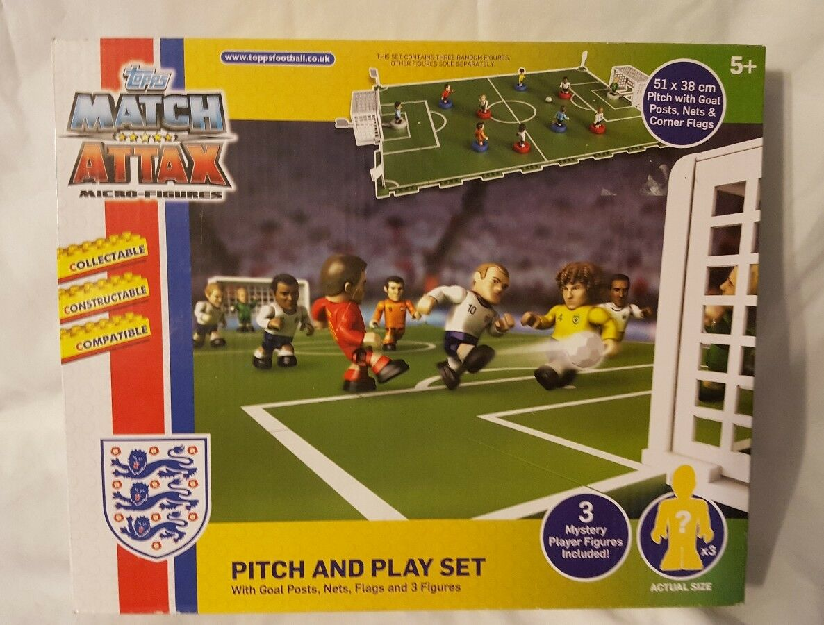 Topps Match Attax Pitch And Play Set England And World Stars Micro Figures Set