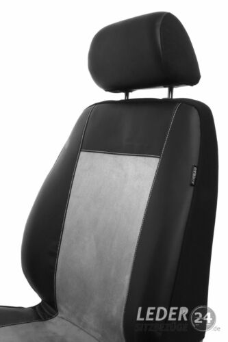 AUDI A4 B6 Sedan-Kombi 2000-2004 Maßgefertigt Sitzbezüge Kunstleder schwarz grau