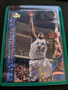 Shaquille-O-039-Neal-Shaq-1994-95-Upper-Deck-Player-Quote-Book-49-Gold-Auto-Magic