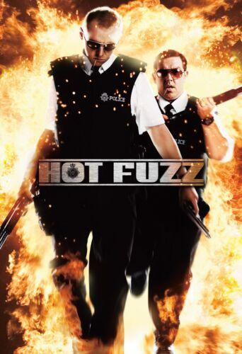 "HOT FUZZ Movie Silk Fabric Poster 11/""x17/"" 24/""x36/"" Simon Pegg Nick Frost"