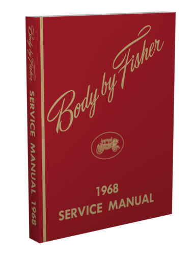 1968 Chevelle Body Shop Manual Malibu El Camino and SS Super Sport Service Book