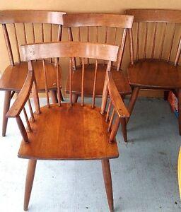 Image Is Loading Set Of 5 Vintage Antique Windsor Back Dining