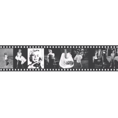 Marilyn Monroe 11088709 Black Self-Adhesive Film Photograph Wall Border